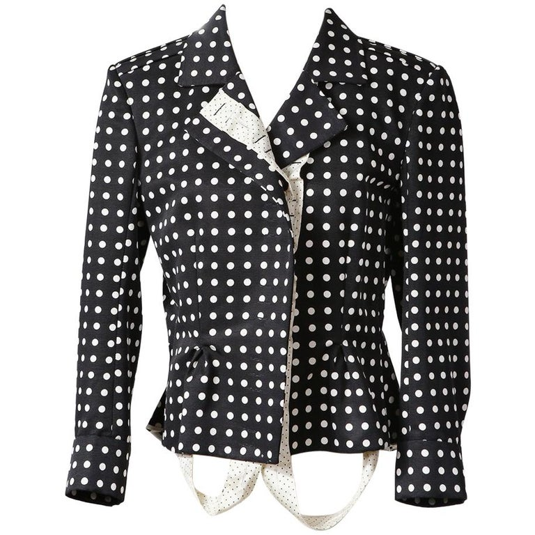 Yves Saint Laurent Polka Dot Jacket by Stefano Pilati