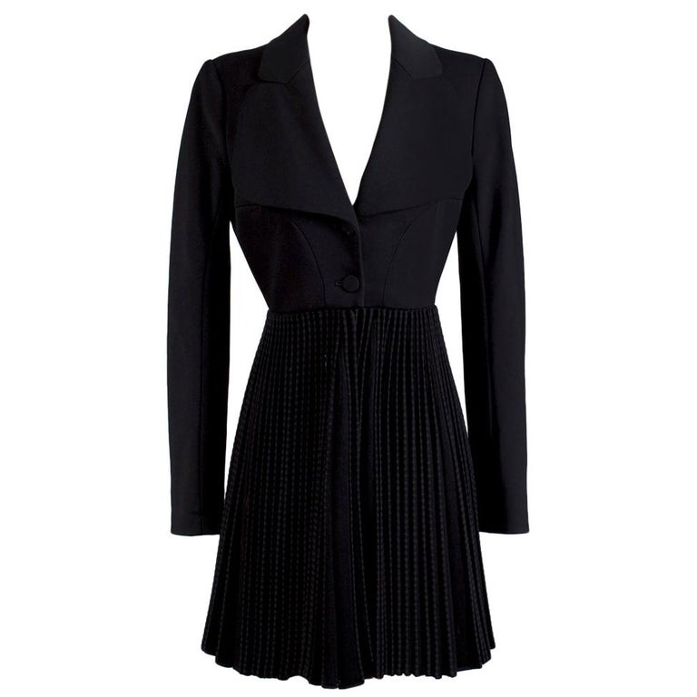 Alaia Accordion Pleated Fit n Flare Coat