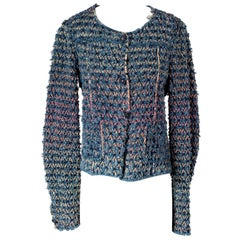 Chanel Denim Frayed Crochet Jacket, Spring 2007