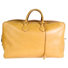 Hermes Victoria Bag in Mustard Yellow Leather, 1993