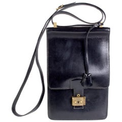Black Leather Shoulder Bag, 1983