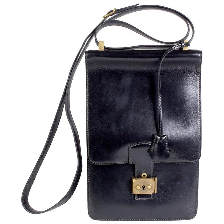 Black Leather Shoulder Bag, 1983