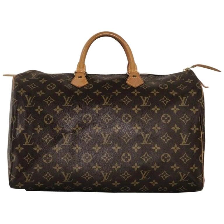 Louis Vuitton Monogram Speedy 40 Satchel Handbag