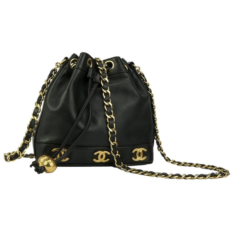 42b059d06f654d Chanel Mini Lambskin Vintage CC 90S Crossbody Tote Rare For Sale at ...