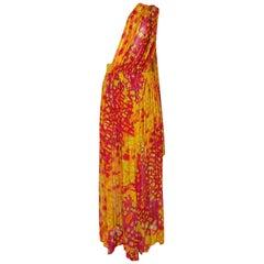 Pauline Trigere Documented Silk Draped Jumpsuit Pant Dress, 1966