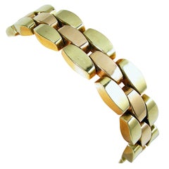 Vintage Retro 14kt Tri Color Gate Bracelet