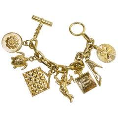 Vintage Famous Chanel Charm Bracelet