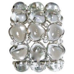 Kenneth Jay Lane Clear Lucite Bubble Cuff Bracelet