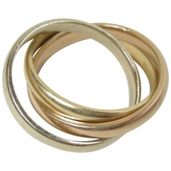 Vintage Tiffany & Co. 14 Karat Triple Roll Ring