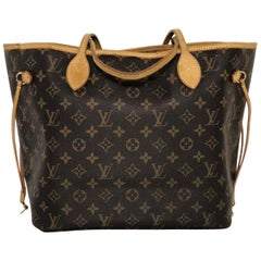 Louis Vuitton Monogram Neverfull MM Tote Handbag