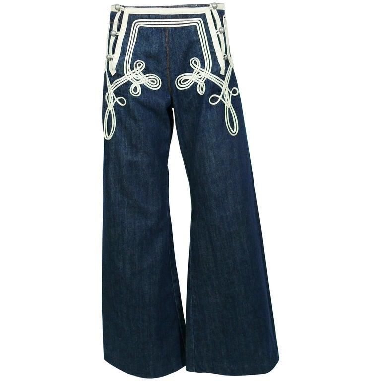 Jean Paul Gaultier Vintage Iconic Sailor Jeans US Size 8