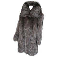 Beautiful Silver Fox Fur coat