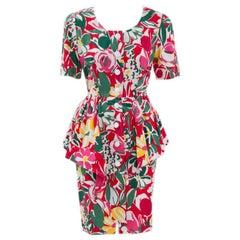 Guy Laroche Floral Peplum Dress