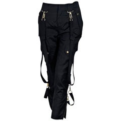 Black Gucci Cropped Harem Pants