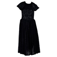Comme des Garcons Embroidered Black Evening Dress