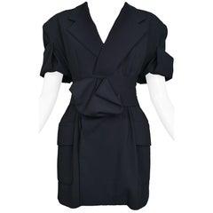 Vintage Yohji Yamamoto Navy Belted Blazer