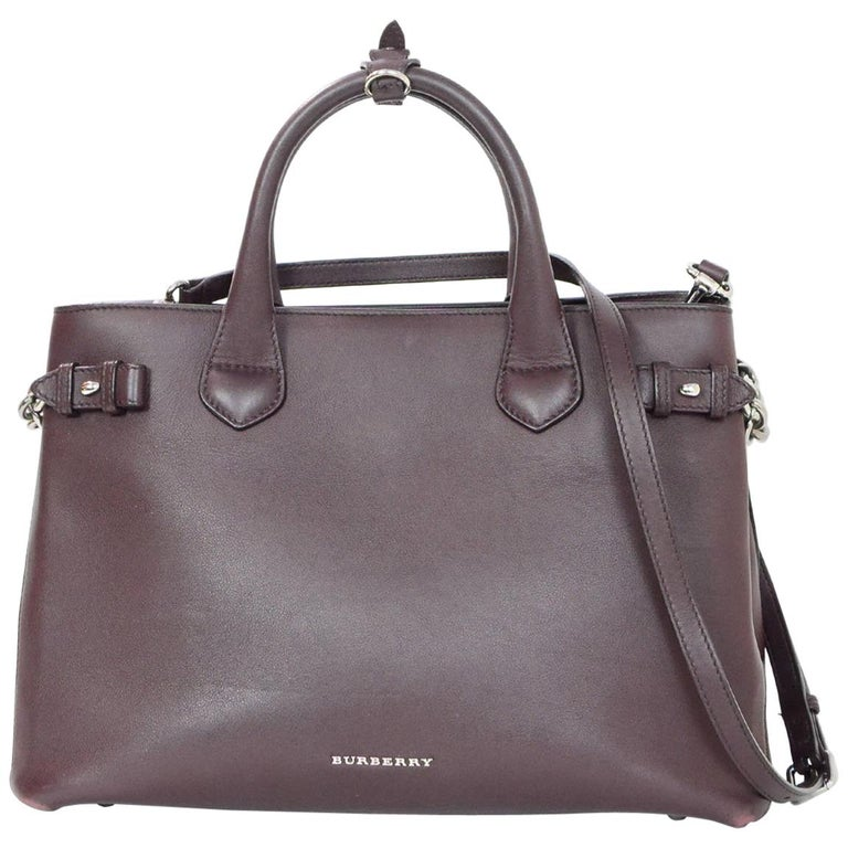 c7281ab82 Burberry Brown Leather Banner Satchel Bag with Strap For Sale at 1stdibs