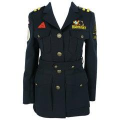 Moschino Vintage Military Style Harmony Jacket USA Size 8