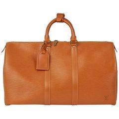 Louis Vuitton Gold Epi Leather Vintage Keepall 45, 1994