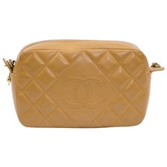 CHANEL Camera Bag in Camel Quilted Leather
