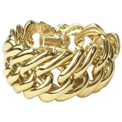 YSL YVES SAINT LAURENT Vintage Chain Bracelet in gilded Metal