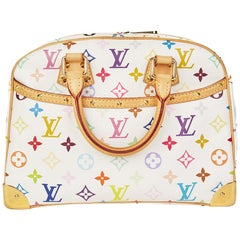 2007 Louis Vuitton White Multicolour Monogram Canvas Trouville