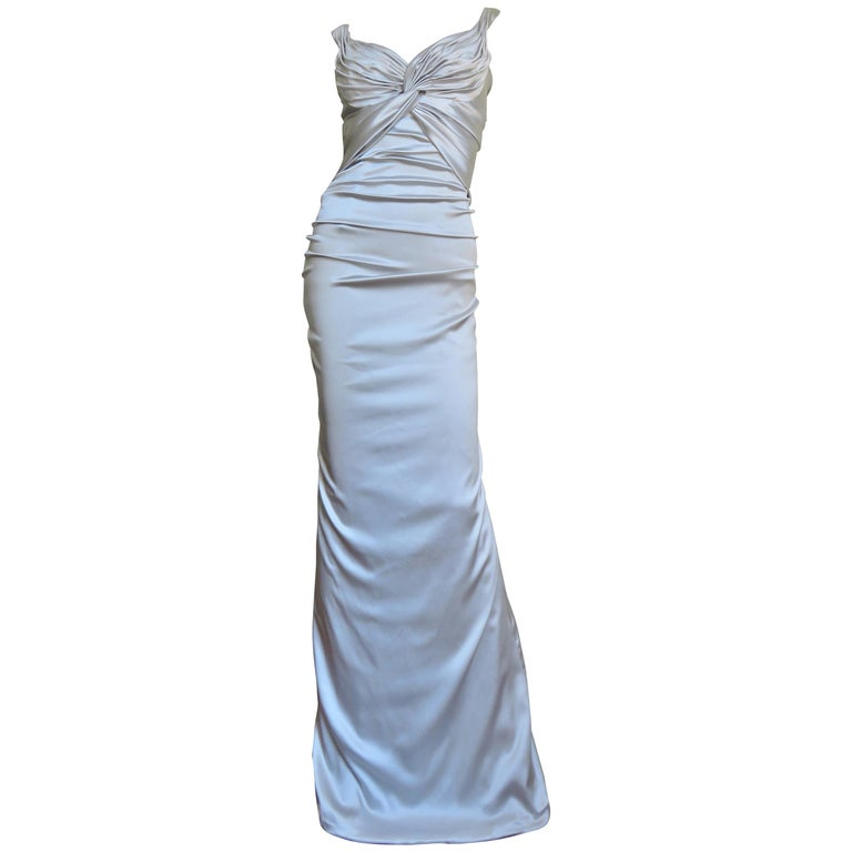 fc572d45 Dolce and Gabbana Silk Ruched Gown For Sale at 1stdibs