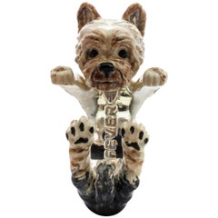 Yorkshire Terrier Sterling Silver and Enamel Hug Ring from Dog Fever Milano
