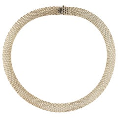 Tiffany & Co. Sterling Silver Mesh Evening Collar Choker Necklace