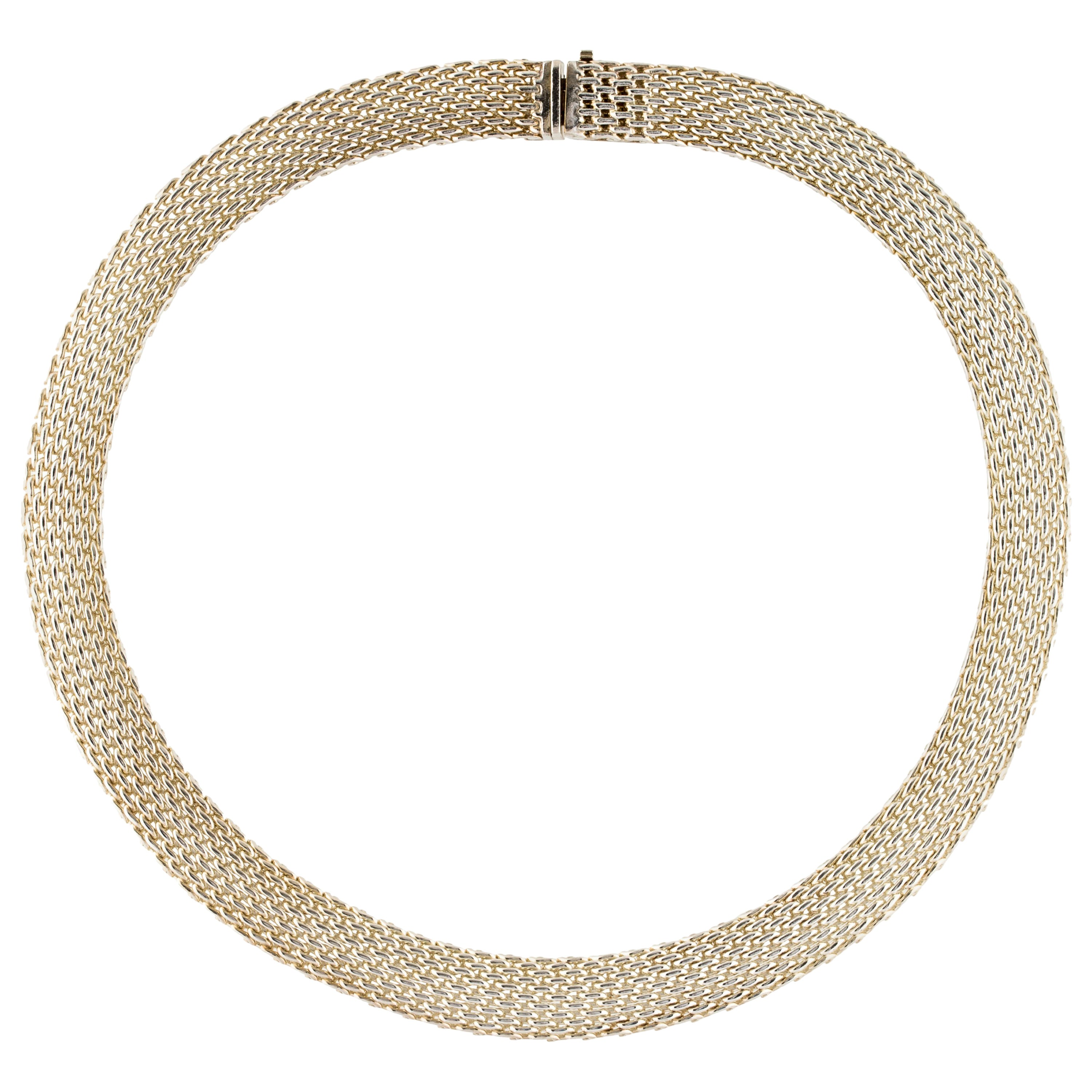 f6f0c81dea6 Tiffany and Co. Sterling Silver Mesh Evening Collar Choker Necklace For  Sale at 1stdibs