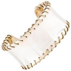 Tiffany & Co. Sterling Silver Stitch Evening Wide Cuff Bracelet
