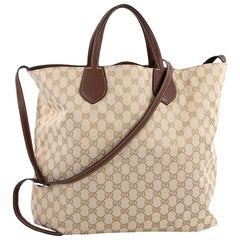 Gucci Ramble Reversible Tote GG Canvas and Leather Large
