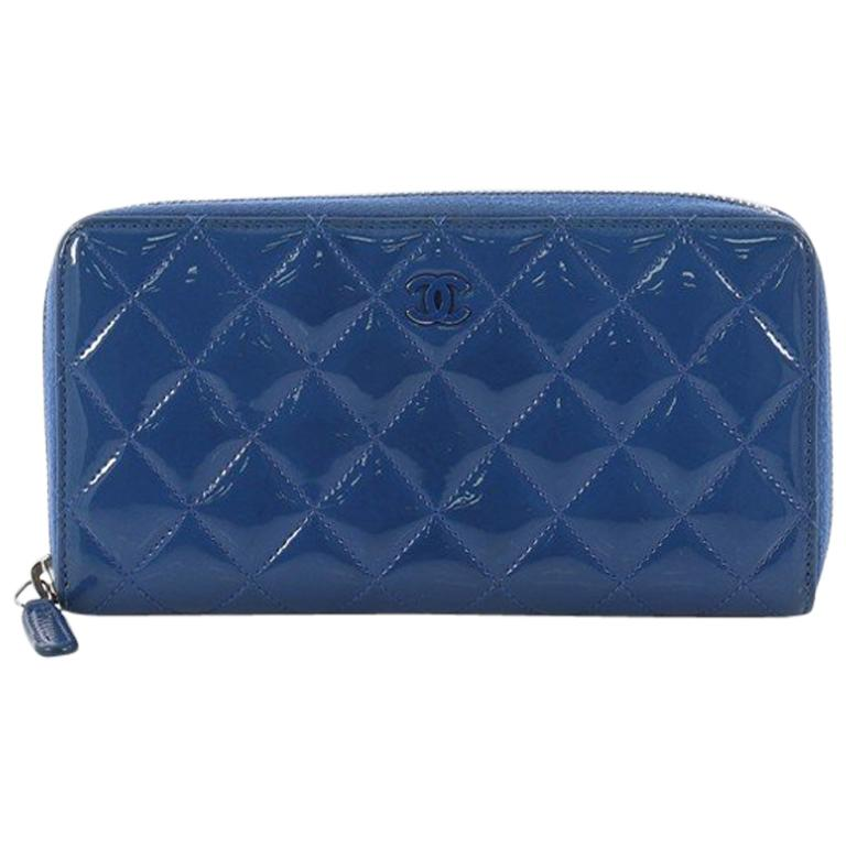 1133cd9aab97d3 Chanel Zip Around Wallet Quilted Patent Long at 1stdibs