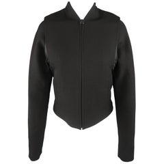 HELMUT LANG Size S Black Wool Blend Vest Overlay Jacket