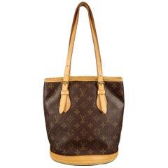 LOUIS VUITTON Brown Monogram Coated Canvas BUCKET Handbag