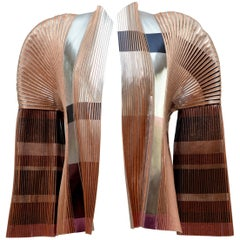 Balenciaga By Nicolas Ghesquiere Metallic Pleated Jacket, 2008