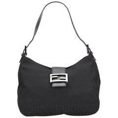 Fendi Brown x Beige x Brown Zucchino Jacquard Shoulder Bag