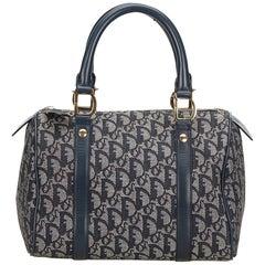 Dior Blue x Navy x White x Ivory Oblique Boston Bag