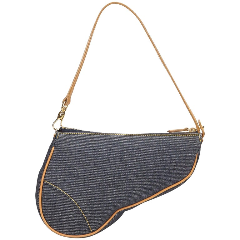 61a94f00f8b5 Dior Denim Mini Saddle For Sale at 1stdibs
