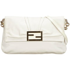Fendi White Leather Crossbody Bag
