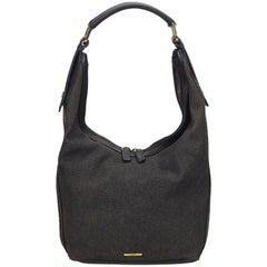 Gucci Black x Multi Canvas Hobo Bag