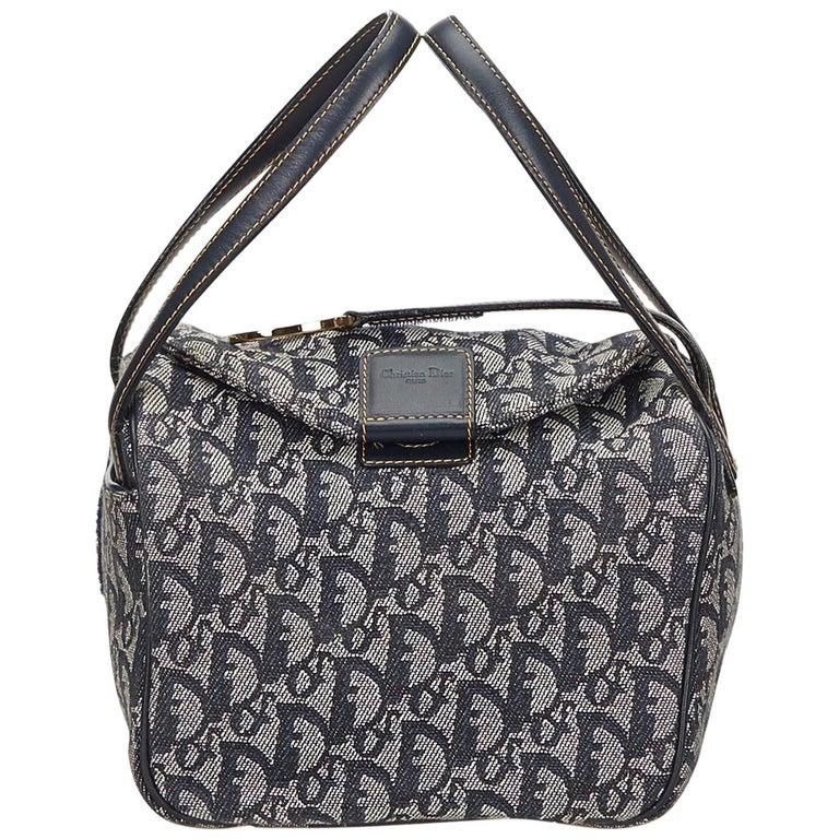 Dior Gray Oblique Jacquard Handbag