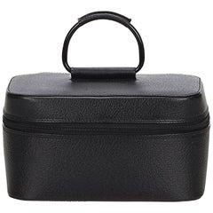 Gucci Black Leather Vanity Bag