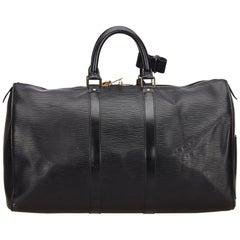 Louis Vuitton Black Epi Keepall 45