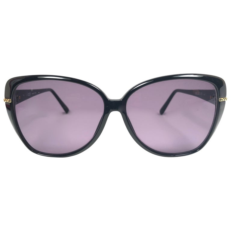New Vintage Gucci GG  Oversized Sunglasses 1980's Made in Italy