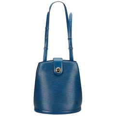 Louis Vuitton Blue Epi Cluny