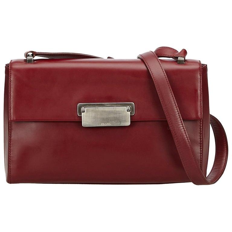 Prada Red x Bordeau Leather Crossbody Bag at 1stdibs 1f44763c5df5f