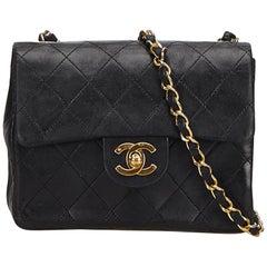 Chanel Black Classic Mini Flap Crossbody Bag