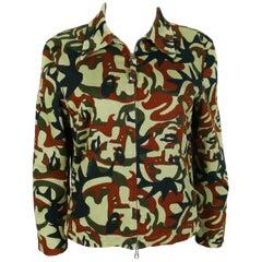 Jean Paul Gaultier Vintage Camouflage Faces Jacket US Size 10