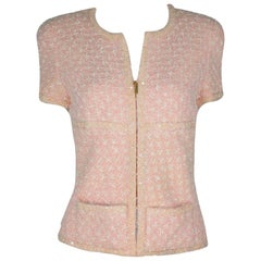 Important Chanel by Karl Lagerfeld Pink Sequin Lesage Fantasy Tweed Jacket